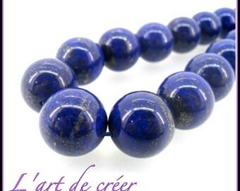 10 lapis lazuli round 6 mm - Grade A beads