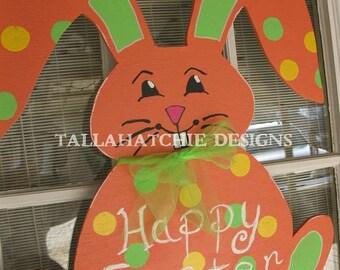 Easter Bunny Door Hanger- Bunny Door Hanger- Wooden Bunny Door Hanger- Spring Door Hanger -Happy Easter Door Hanger -Easter Wreath