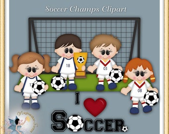 Soccer Clipart, Sports Champions