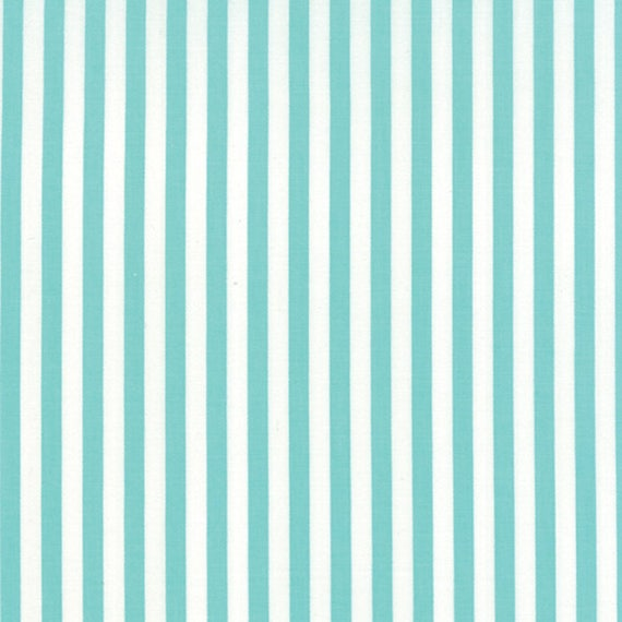 Corey Yoder Little Miss Shabby Aqua Prairie Stripe Quilt Fabric. 29006-28