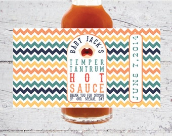 Baby Temper Tantrum Hot Sauce Labels | 5 oz | Baby Shower Favors | Print-It-Yourself | Digital Download | Printable | Custom Labels