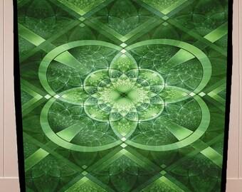 "NEW!!!  St. Patrick's Day Celtic Green Shamrock FLEECE Blanket!!! SALE!!! 50"" x 60""."
