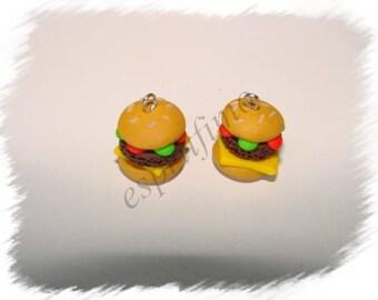 """""""Burger"""" Fimo charm"""