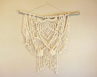 Large Macrame Wall Hanging Cotton Handmade