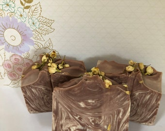 Blushing Orchid with Jasmine Flower Buds Soap; Bath and Body; Handmade Soap