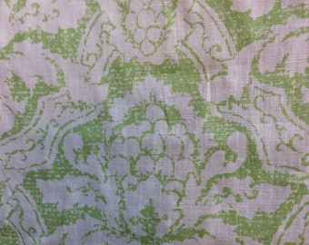 Laura Ashley linen damask print fabric
