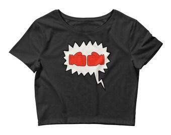 Boxing T Shirt | Boxing day shirt, Boxing Gloves, kickboxing shirt, Boxing crop top, Women workout shirt, Cute Gym Shirt, Boxing Workout