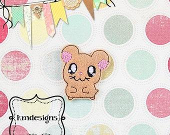 Cute Little Hamster Digital ITH Feltie Embroidery Design File