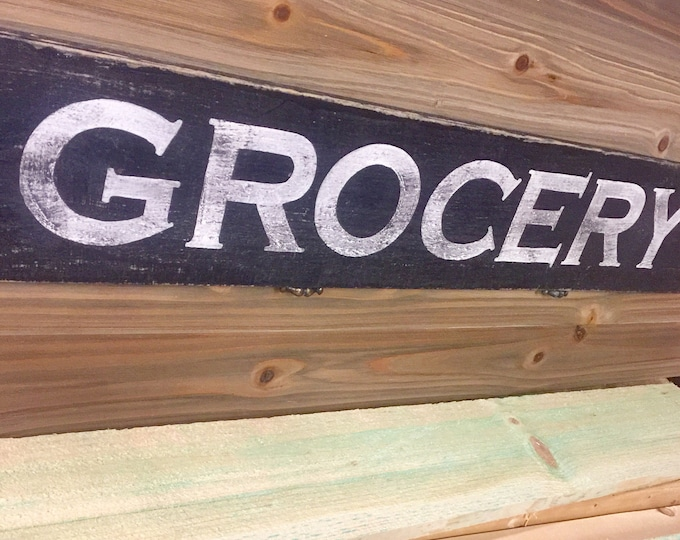 Vintage Grocery Sign. General Store Sign. Antique Grocery Signs. Antique Signs Wood. Antique Signs Kitchen. Grocery Dry Goods Sign.