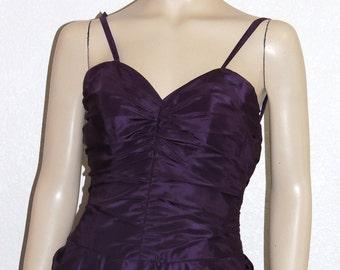 BELLVILLE SASSOON Purple Silk Party Dress Small