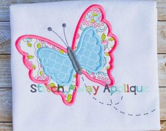 Spring Butterfly Machine Applique Design
