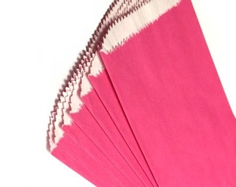 """4 3/4"""" x 6 3/4"""" Pink Paper Candy & Cookie Bags - 10PK"""