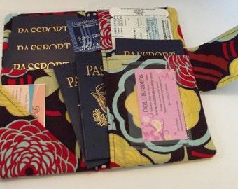 Dollbirdies Family Boarding Pass Passport Wallet