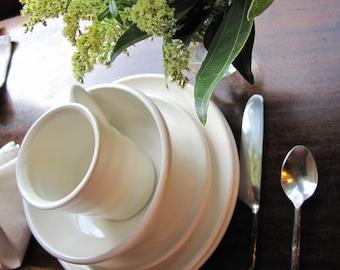Dinnerware set dinner plate wares pottery plates bowls mugs dishes wedding registry handcrafted ceramic dinnerwares