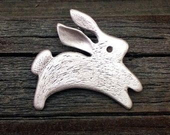 Rabbit Pin   Bunny Pin   Easter Bunny   Easter Rabbit   Bunny Jewelry   Rabbit Jewelry   Easter Jewelry   Easter Pin by Treasure Cast Pewter