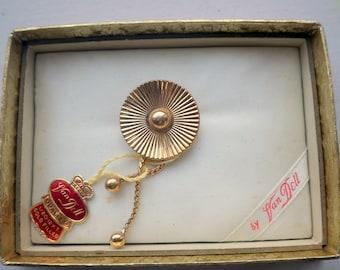 Gold Tassle Brooch/pendant - Never Used - Deco - Van Dell