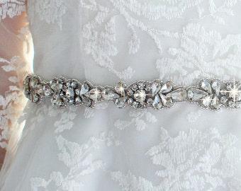 Bridal Belt Bridesmaid Belt Rhinestone Beaded Bridal Sash Belt Bridal Sash Bridesmaid Sash Wedding Dress Sash Wedding Dress Belt