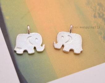 2 pcs elephant charms pendants in sterling silver, JT1