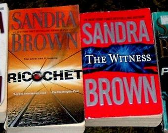 4 BOOKS by SANDRA BROWN (Paperbacks