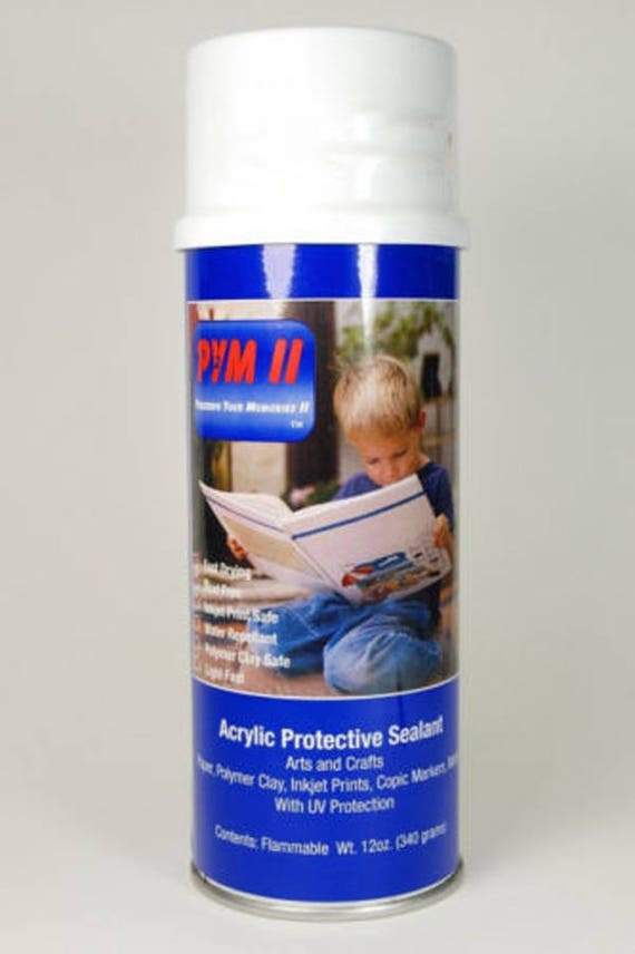 Back in Stock Preserve you memories PYM II, perfect sealer for polymer clay, archival, newspaper clippings, ink-jet prints, wood, metals
