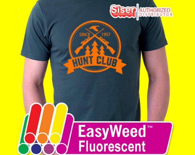 """12"""" x 15"""" / 10-sheets Siser Easyweed Fluorescent - Heat Transfer Vinyl - HTV - Neon"""