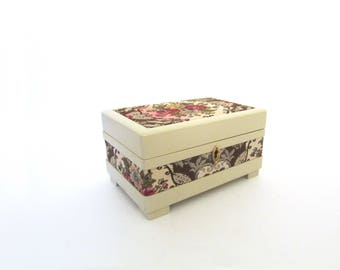 Lovely Reuge Italy Harrod's of London Music Jewelry Box Brocade