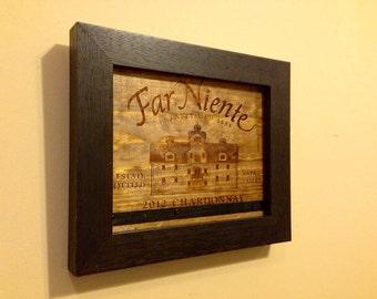 Wine Kitchen Decor - Wine Art / Wine Decor -- Wine Art - Napa Valley Winery Reclaimed Wood Wall Piece