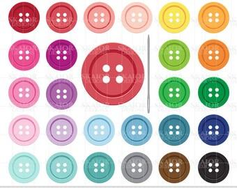 Buttons Clipart Sewing Buttons Clip Art Rainbow Color Buttons Scrapbooking Planner Sticker Clipart Sewing Clipart Baby Shower Clipart