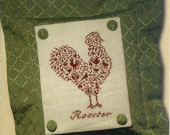 JBW Designs: French Country Rooster - a Sweet Nothings Cross Stitch Pattern