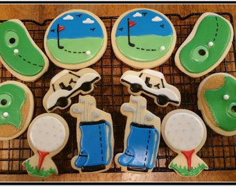 Golf Cut Out Sugar Cookies - 1 Dozen