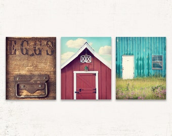Kitchen Wall Art, Rustic Kitchen Wall Decor, SET of THREE Prints or Canvases, Farmhouse Wall Decor, Rustic Wall Art, Farmhouse Kitchen Decor