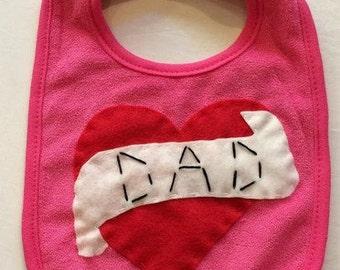 I Love Dad Tattoo Baby Bib
