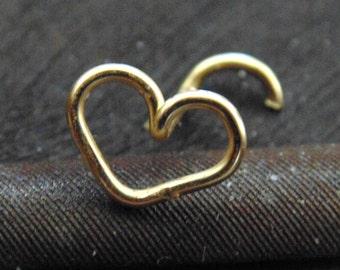 Heart Nose Stud,heart nose ring,heart tragus,heart nose piercing