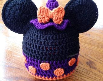 Minnie Mouse Witch Beanie