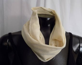Eco Dyed Yellow Cotton Infinity Scarf with St. John's Wort