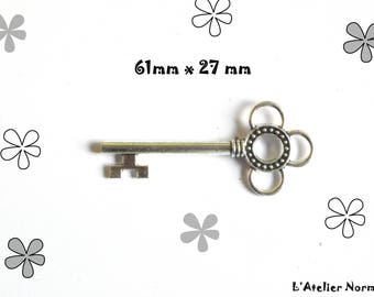 Charm key 6,1cm color silver * to the unit *.