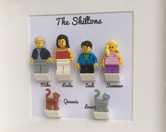 LEGO® Birthday Gift for Him, Wedding Gift, LEGO® Family Frame with Personalised Minifigures, Anniversary Gift For Him
