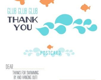 Goldfish Thank You Postcard