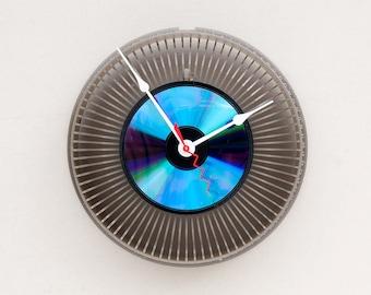 kodak slide tray clock, Recycled Kodak Slide Carousel Clock, photographer gift clock, camera inspired clock, gift clock for him, modern