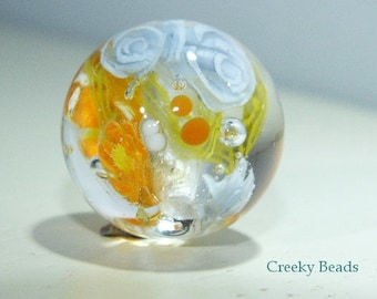 Handmade Lampwork Focal bead - 'Spring time!' - Creeky Beads SRA