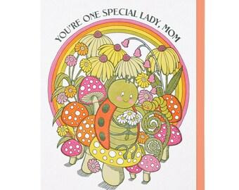 Special Ladybug Mom Letterpress Card