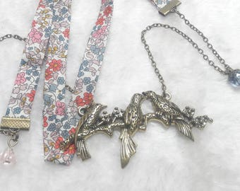 Liberty three birds necklace