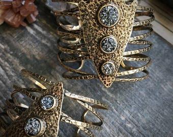 Cuff Bracelet,Raw Stone Cuff Bracelet,Brass Cuff Braclet,Cuff Braclet,Druzy Bracelet,Arrowhead Bracelet,Boho Cuff,Rustic Cuff Bracelet,Boho