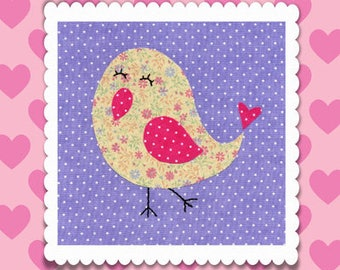 Little Bird Applique PDF Pattern