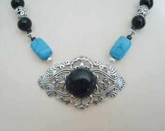 Turquoise Necklace, boho jewelry gypsy jewelry bohemian jewelry hippie jewelry new age boho necklace bohemian necklace hippie necklace