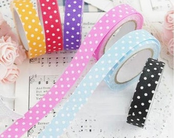 Fabric tape in different colours