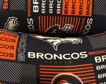 Small rectangular Broncos pillow