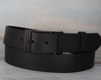 Leather Belt, Black Leather Belt, Mens Belt