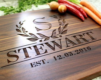 Personalized Cutting Board - Engraved Cutting Board, Custom Cutting Board, Wedding Gift, Housewarming Gift, Engagement, Anniversary W-011 GB