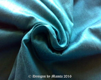 Verdigris Turquoise Dupioni Art Silk Fabric, Fat Quarter Art Silk Fabric, Bridesmaid Gown Material, India Fabric, Turquoise Blue Silk Fabric